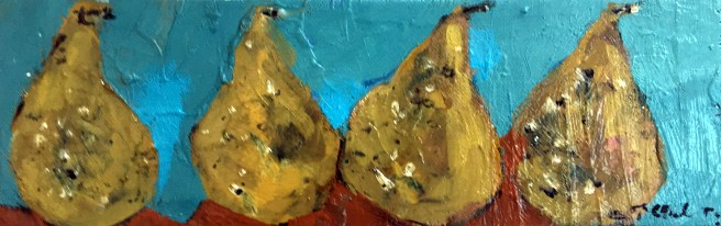 Pears. Winter Oil Paintings Maine Studio. Erin McGee Ferrell